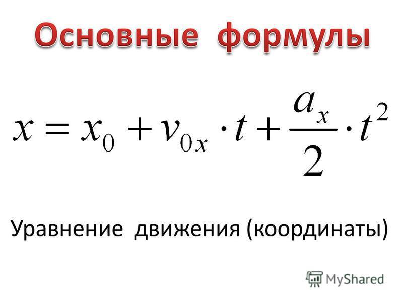 Уравнение движения (координаты)