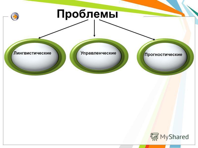 Проблемы Лингвистические Управленческие Прогностические