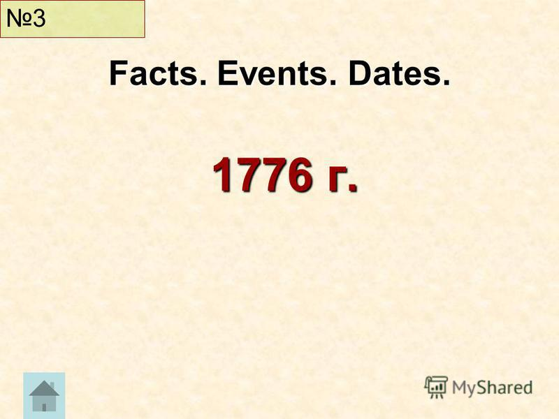 1776 г. Facts. Events. Dates. 3