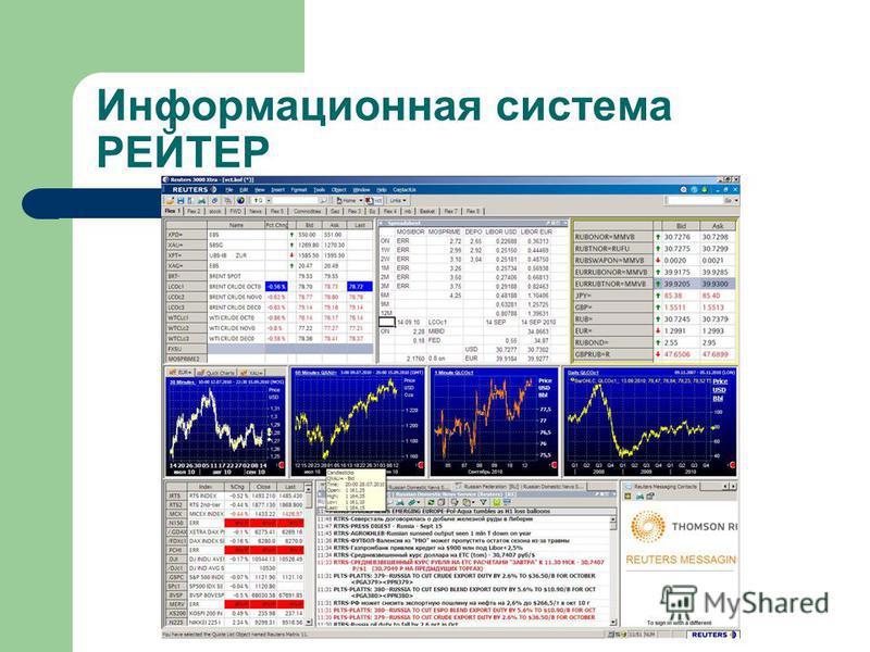 Информационная система РЕЙТЕР