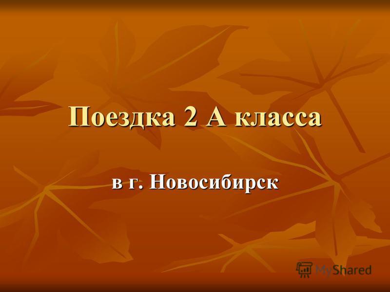 Поездка 2 А класса в г. Новосибирск