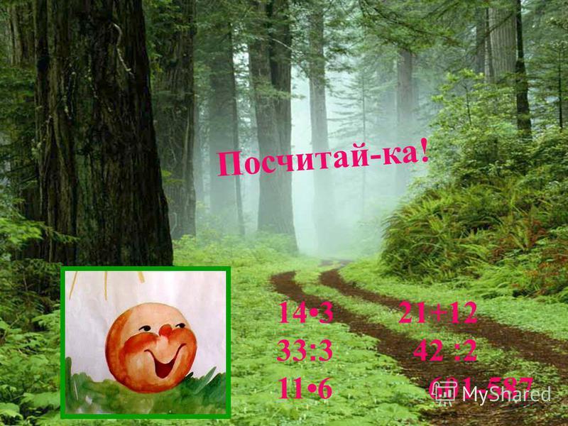 Посчитай-ка! 143 21+12 33׃3 42 ׃2 116 601-587