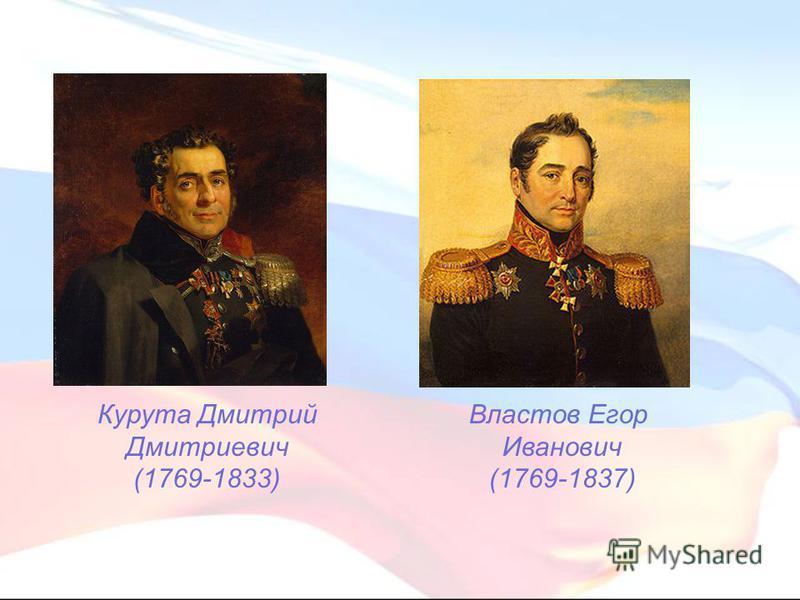 Курута Дмитрий Дмитриевич (1769-1833) Властов Егор Иванович (1769-1837)