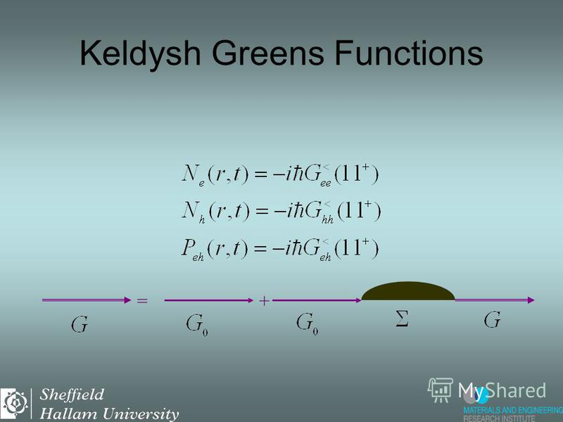 Semiconductor Bloch Equations can be derived from projections of the GFs =+ Keldysh Greens Functions