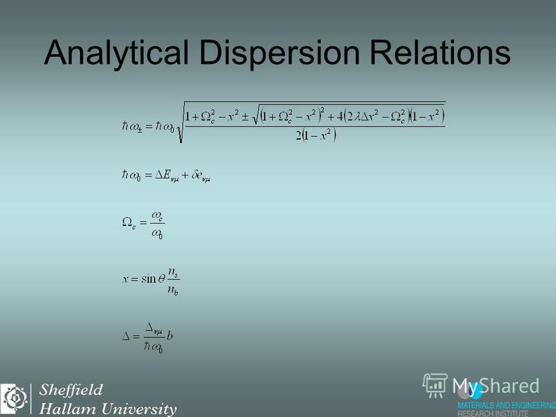 Analytical Dispersion Relations