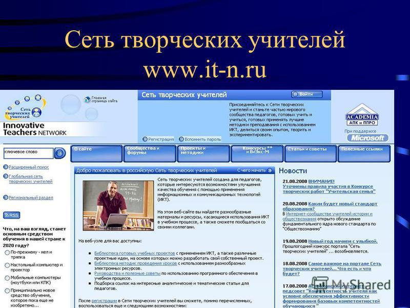 Сеть творческих учителей www.it-n.ru