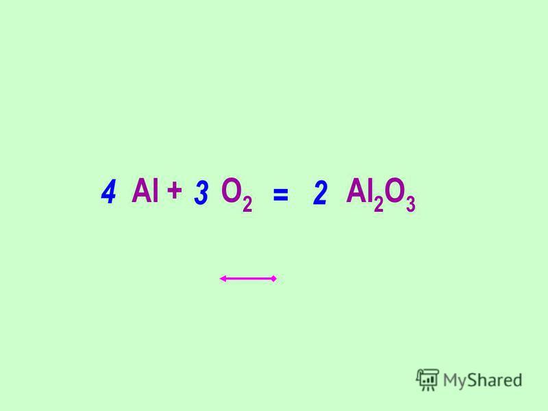 Al + O 2 Al 2 O 3 32 4 =