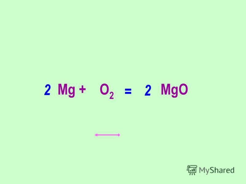 Мg + O 2 MgO 2 2 =