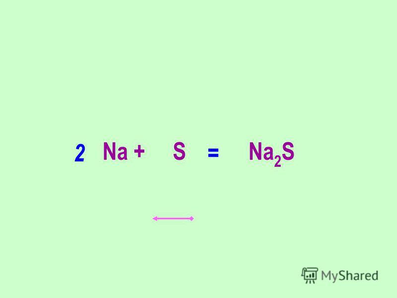 Na + S Na 2 S 2 =