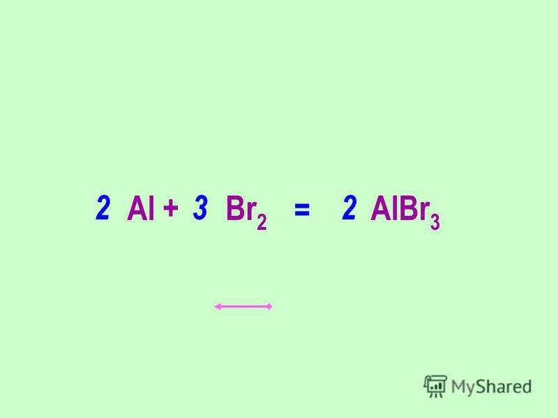 Al + Br 2 AlBr 3 322 =