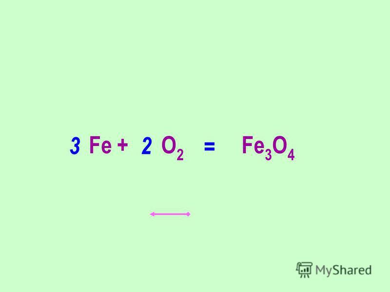 Fe + O 2 Fe 3 O 4 23 =