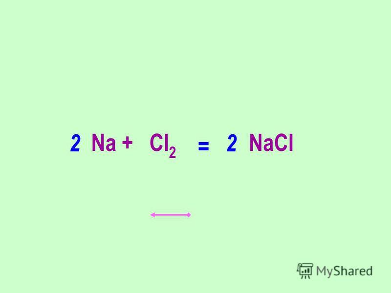 Na + Cl 2 NaCl 22 =