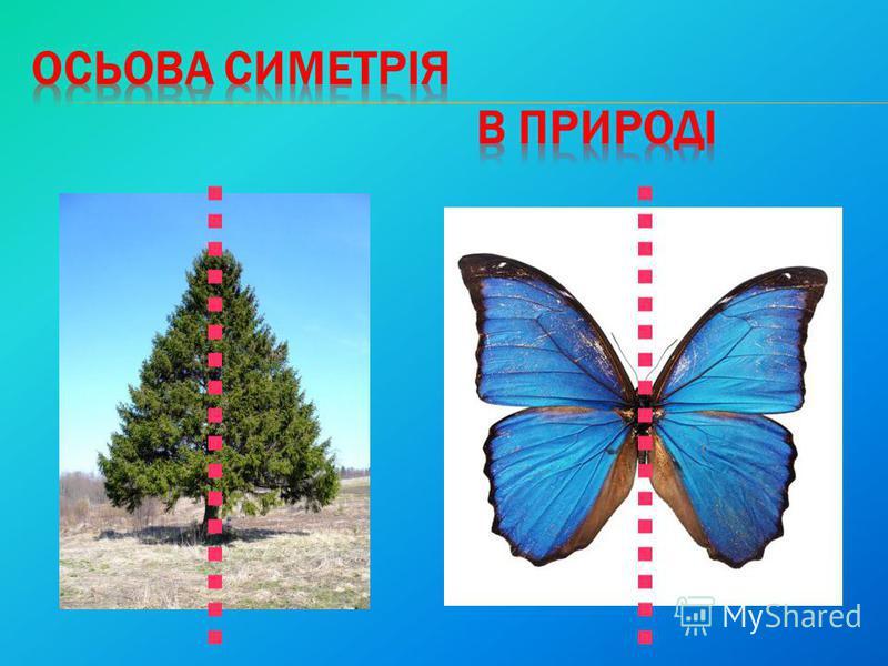 Пряма а називається віссю симетрії фігури Пряма а називається віссю симетрії фігури.