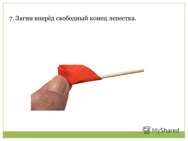 7. Загни вперёд свободный конец лепестка.