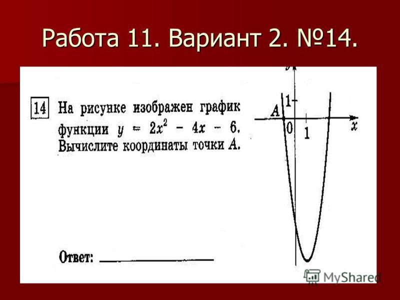 Работа 11. Вариант 2. 14.