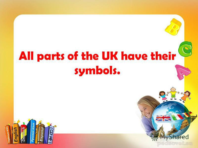 All parts of the UK have their symbols.