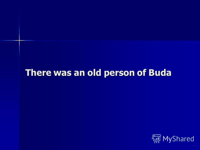 There was an old person of Buda