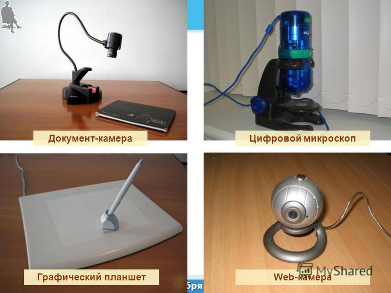 31 октября 2012 г. Документ-камера Цифровой микроскоп Web-камера Графический планшет