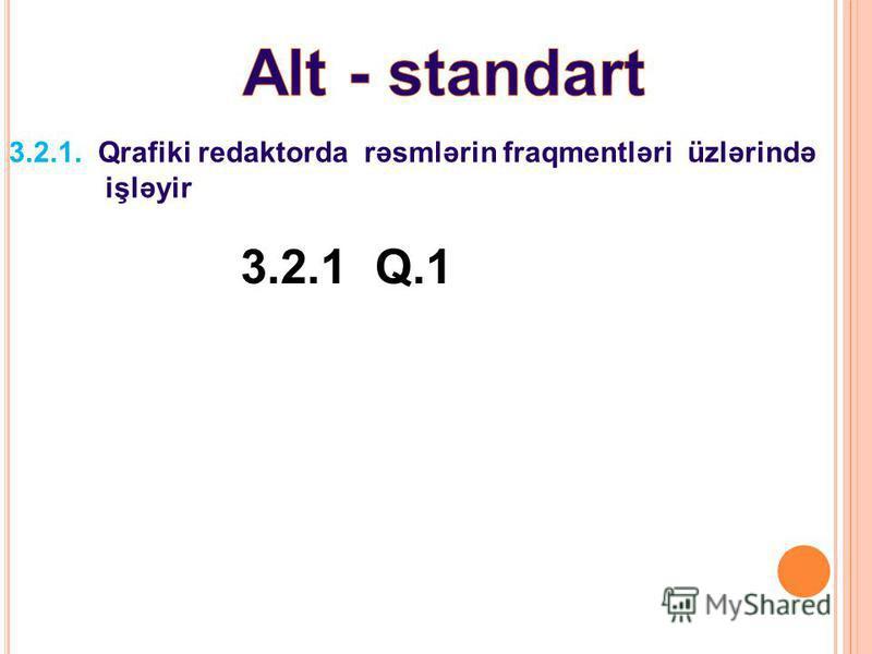 3.2.1. Qrafiki redaktorda rəsmlərin fraqmentləri üzlərində işləyir 3.2.1 Q.1