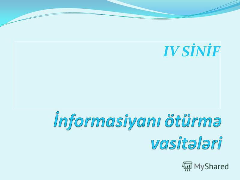 IV SİNİF