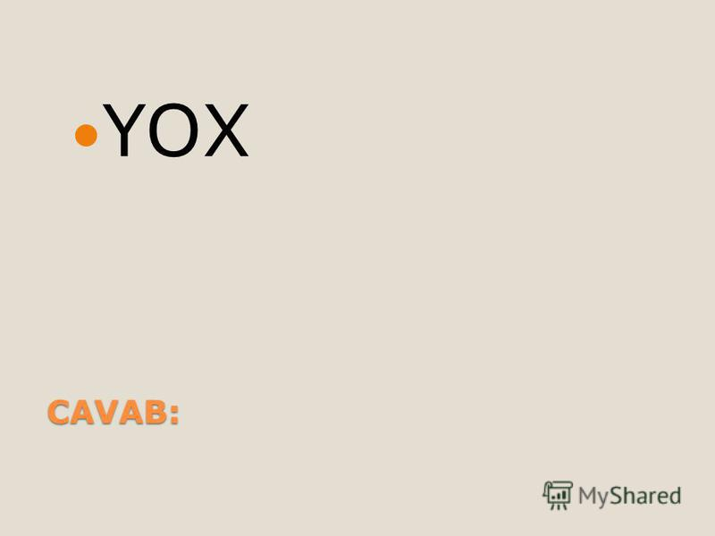 CAVAB: YOX