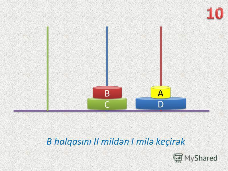D D C C B B A A B halqasını II mildən I milə keçirək