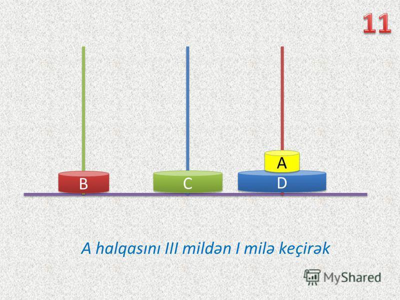 D D C C B B A halqasını III mildən I milə keçirək A A