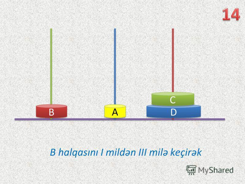 D D C C B B A A B halqasını I mildən III milə keçirək