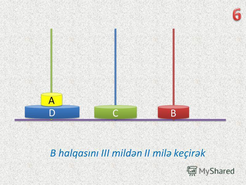D D C C B B A A B halqasını III mildən II milə keçirək