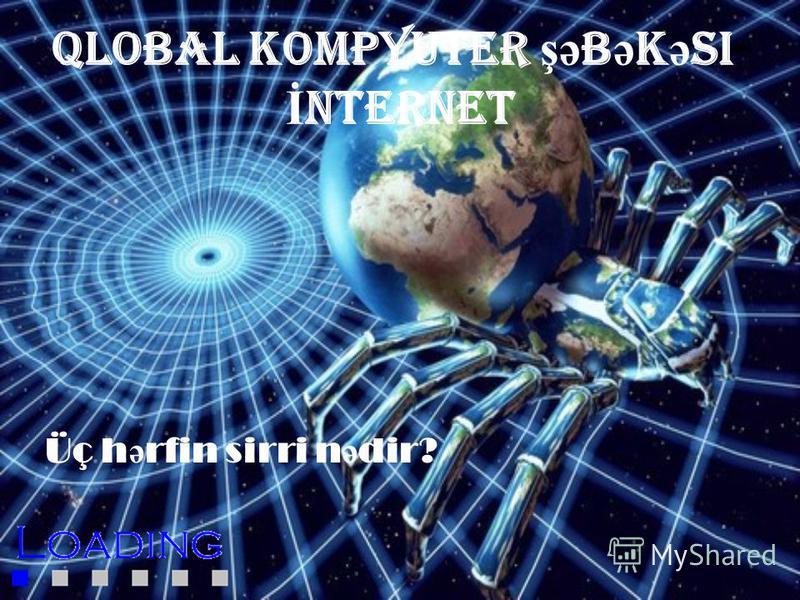 Qlobal kompyuter şə b ə k ə si- İ NTERNET Üç h ə rfin sirri n ə dir?