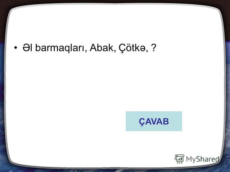 Əl barmaqları, Abak, Çötkə, ? ÇAVAB