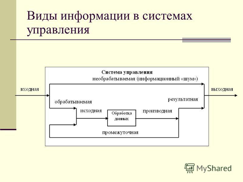 Виды информации в системах управления