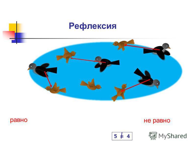 Рефлексия равно не равно 5 = 4