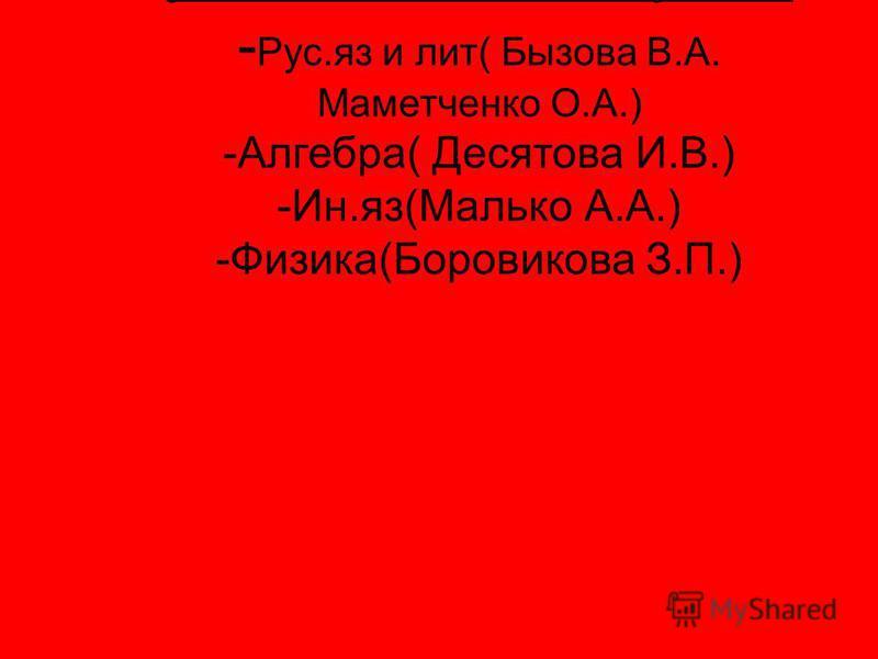 1. Узнаю много нового на уроке, учитель заставляет думать: - Рус.яз и лит( Бызова В.А. Маметченко О.А.) -Алгебра( Десятова И.В.) -Ин.яз(Малько А.А.) -Физика(Боровикова З.П.)