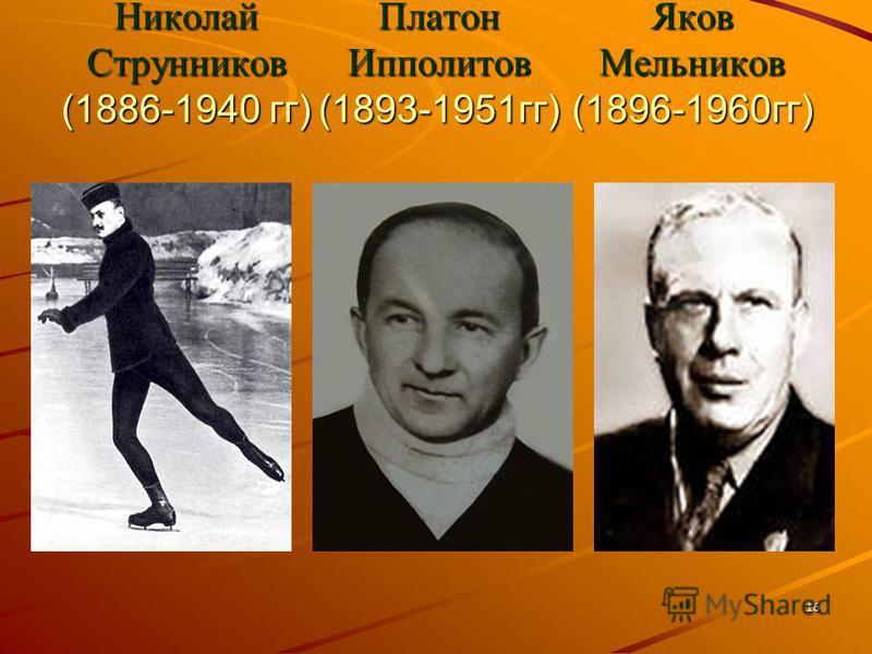 Николай Струнников (1886-1940 гг) Платон Ипполитов (1893-1951 гг) Яков Мельников (1896-1960 гг) 16