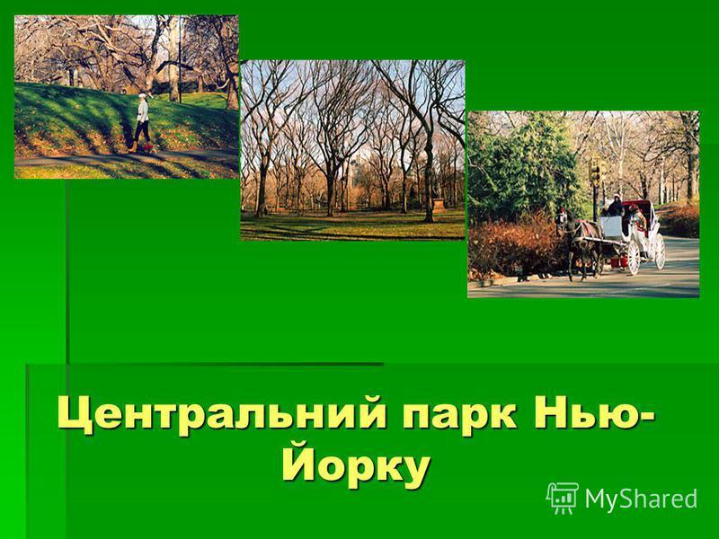 Центральний парк Нью- Йорку