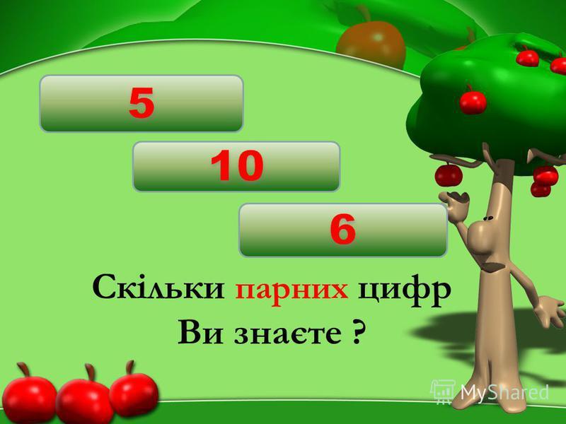 Скільки парних цифр Ви знаєте ?