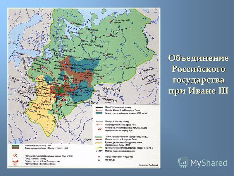 Объединение Российского государства при Иване III