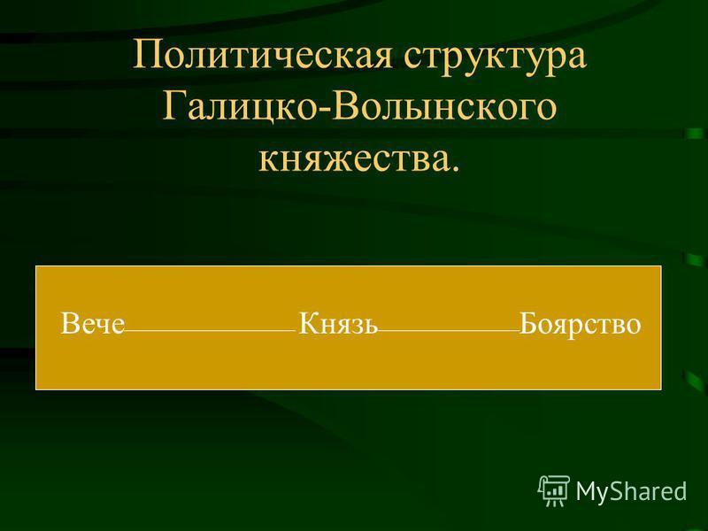 Политическая структура Галицко-Волынского княжества. Вече Князь Боярство