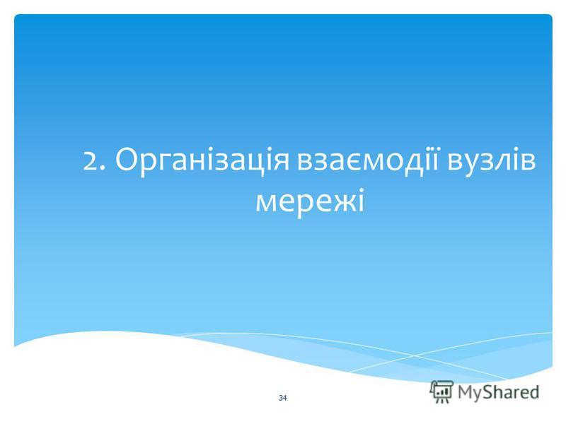 2. Організація взаємодії вузлів мережі 34