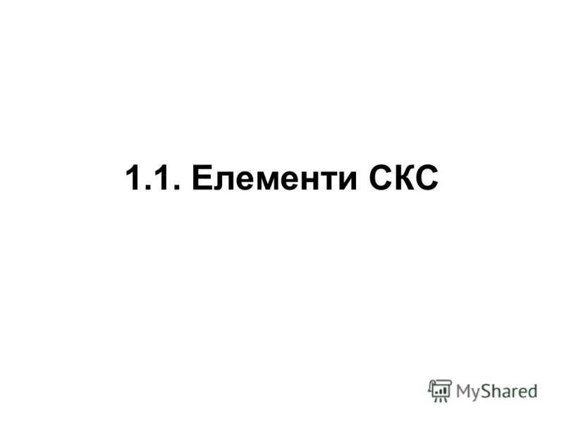 1.1. Елементи СКС