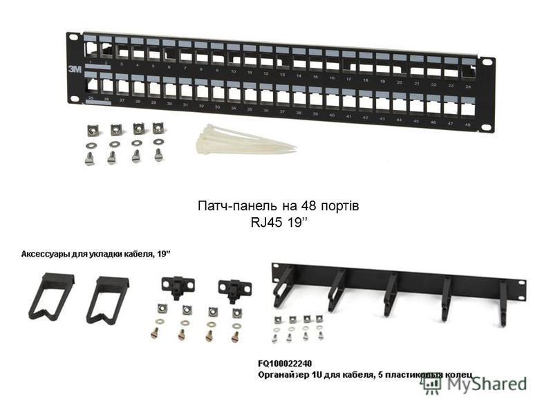 Патч-панель на 48 портів RJ45 19