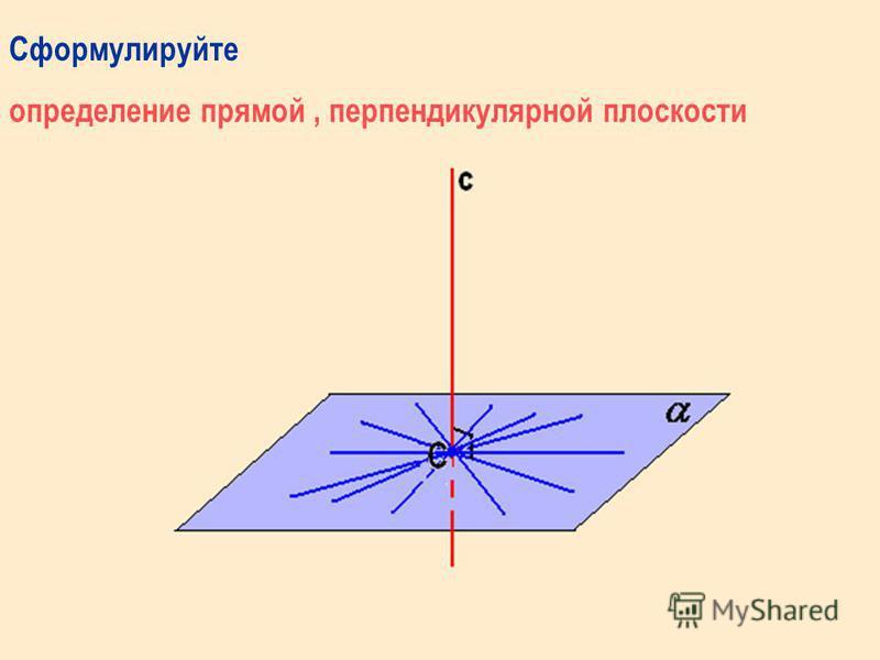 Содержание Повторение определения и признака перпендикулярности прямой и плоскости Теорема о 3-х перпендикулярах: Прямая теорема; Обратная теорема Решение задач Тестирование