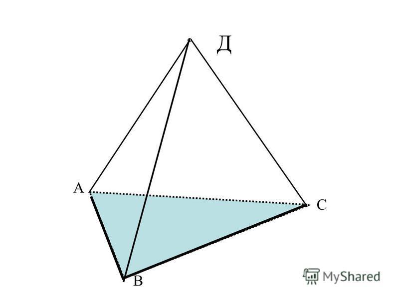 Тетраэдр и параллелепипед