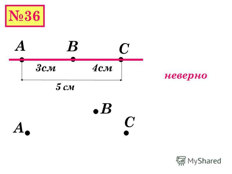 35 Дано: М,С,Т а МС=650 км МТ=170 км Найти ВС М С Т 170 км ? Решение 650 км