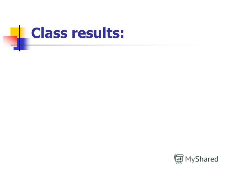 Class results: