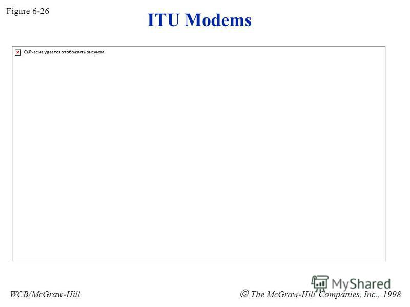ITU Modems Figure 6-26 WCB/McGraw-Hill The McGraw-Hill Companies, Inc., 1998