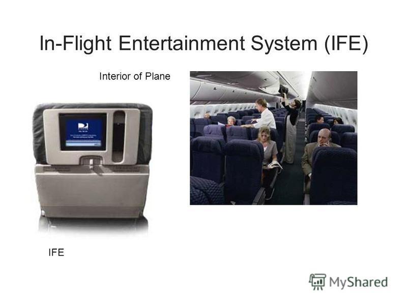 In-Flight Entertainment System (IFE) Interior of Plane IFE