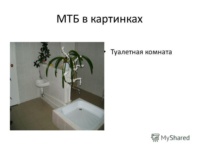 МТБ в картинках Туалетная комната