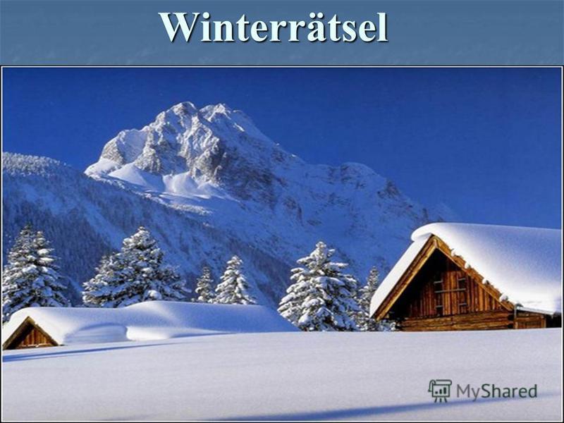 Winterrätsel